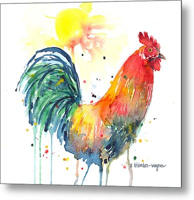 Colorful Alarm Clock Metal Print by Arline Wagner