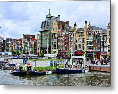 Colorful Amsterdam  Metal Print by Lanis Rossi