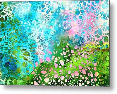 Colorful Art - Enchanting Spring - Sharon Cummings Metal Print by Sharon Cummings