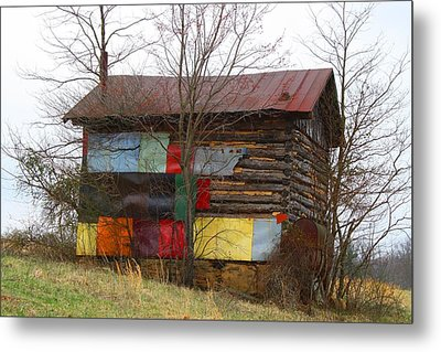 Colorful Barn Metal Print by Kathryn Meyer