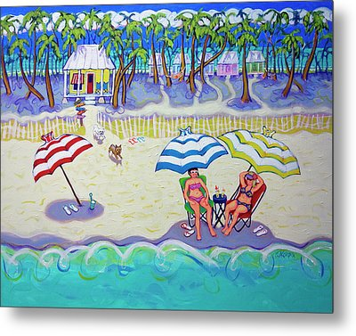 Colorful Beach Hideaway Metal Print