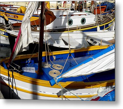 Colorful Boats Metal Print by Lainie Wrightson