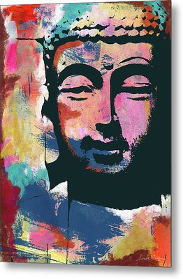 Colorful Buddha 2- Art By Linda Woods Metal Print