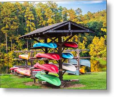 Colorful Canoes Metal Print by Parker Cunningham