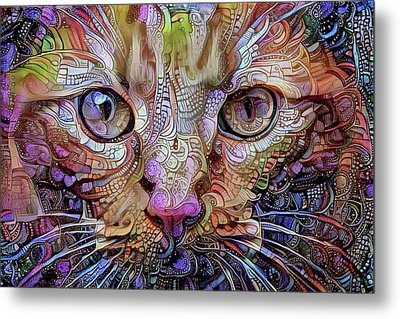Colorful Cat Art Metal Print