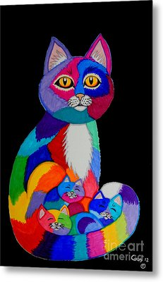 Colorful Cats And Kittens Metal Print by Nick Gustafson