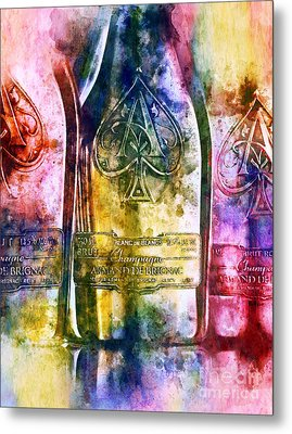 Colorful Champagne Metal Print