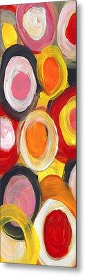 Colorful Circles In Motion Panoramic Vertical Metal Print