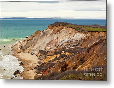 Metal Print featuring the photograph Colorful Clay Cliffs On The Vineyard by Michelle Wiarda
