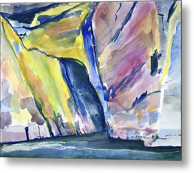Colorful Cliffs And Cave Metal Print