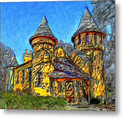 Colorful Curwood Castle Metal Print