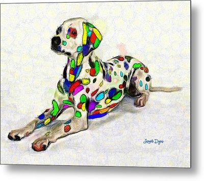 Colorful Dalmatian - Da Metal Print by Leonardo Digenio