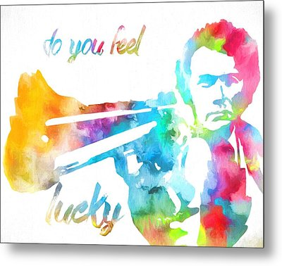 Colorful Dirty Harry Metal Print by Dan Sproul
