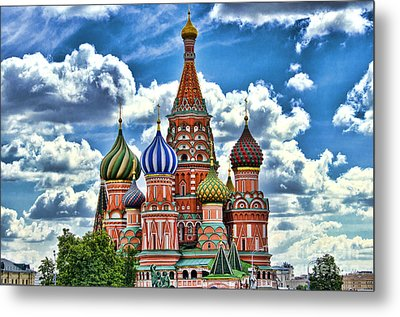 Colorful Domes Metal Print