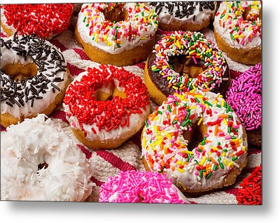 Colorful Donuts Metal Print by Garry Gay