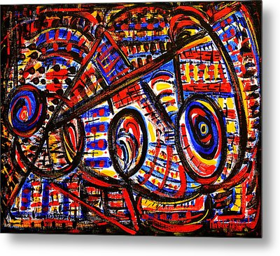 Colorful Expression 18 Metal Print by Natalie Holland