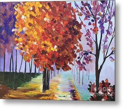 Colorful Fall Metal Print by Viktoriya Sirris
