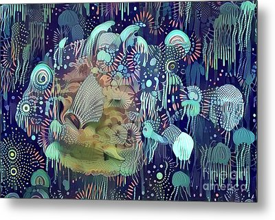 Colorful Fish Metal Print by Amy Cicconi