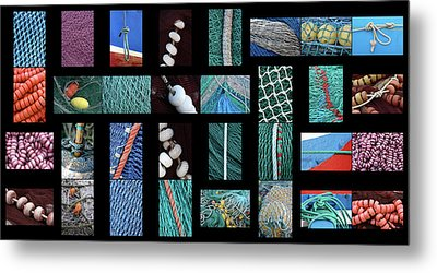 Metal Print featuring the photograph Colorful Fishing Nets by Frank Tschakert