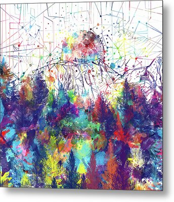 Colorful Forest 2 Metal Print