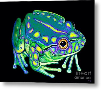 Metal Print featuring the painting Colorful Froggy 2 by Nick Gustafson
