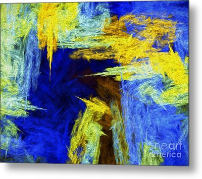 Metal Print featuring the digital art Colorful Frost Abstract by Andee Design