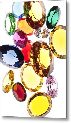 Colorful Gems Metal Print