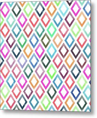 Colorful Geometric Patterns  Metal Print by Amir Faysal