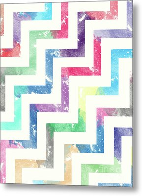 Colorful Geometric Patterns Vi Metal Print by Amir Faysal