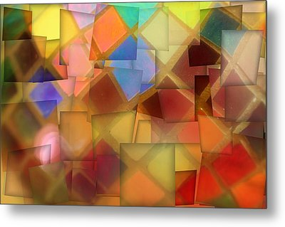 Colorful Glass Cubes Metal Print