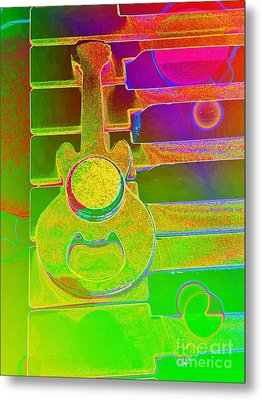 Colorful Guitar And Piano 1 By Jasna Gopic Metal Print