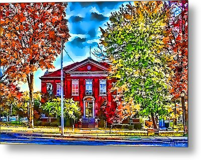Metal Print featuring the photograph Colorful Harrison Courthouse by Kathy Tarochione