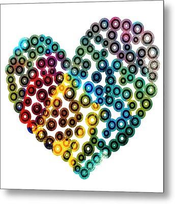 Colorful Heart Metal Print