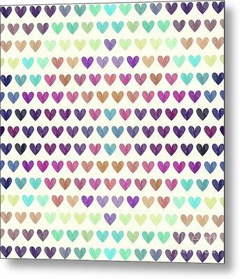 Colorful Hearts IIi Metal Print by Amir Faysal