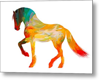 Colorful Horse Metal Print by Art Spectrum