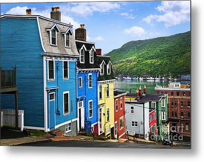 Colorful Houses In St. John's Metal Print by Elena Elisseeva