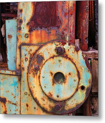 Colorful Industrial Plates Metal Print