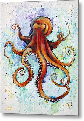 Colorful Ink Metal Print by Arleana Holtzmann