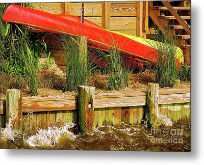 Metal Print featuring the photograph Colorful Kayak Duo by Lois Bryan