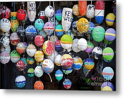 Colorful Key West Lobster Buoys Metal Print by John Stephens