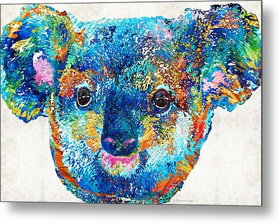 Colorful Koala Bear Art By Sharon Cummings Metal Print by Sharon Cummings