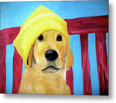 Metal Print featuring the painting Colorful Lab by Rebecca Wood