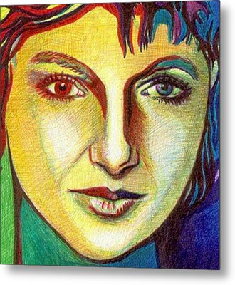 Colorful Lady Metal Print by Jerry  Stith