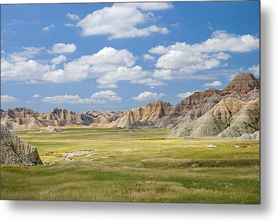 Colorful Landscape In Badlands National Metal Print by Philippe Widling