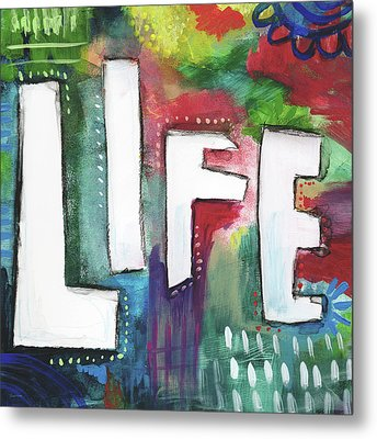 Colorful Life- Art By Linda Woods Metal Print by Linda Woods