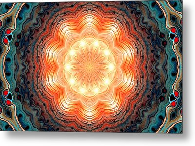 Colorful Mandala 3 Metal Print