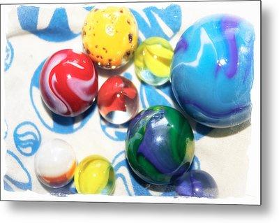 Colorful Marbles Metal Print