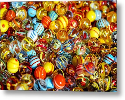 Colorful Marbles - Toys Still Life Metal Print