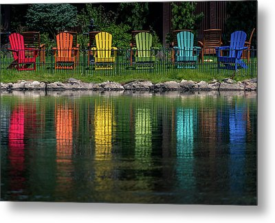 Colorful  Metal Print by Martina Thompson