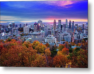 Metal Print featuring the photograph Colorful Montreal  by Mircea Costina Photography
